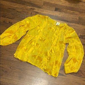 Anthropologie gorgeous orange blouse 8